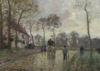 Camille Pissarro~The Coach to Louveciennes