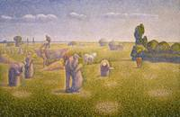 Charles Angrand~The Harvesters
