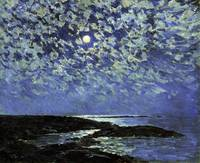 Childe Hassam~Moonlight, Isle of Shoals