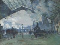 Claude Monet~Arrival of the Normandy Train, Gare S