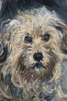 Claude Monet~Detail of Yorkshire Terrier from Euge