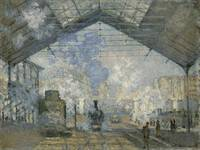 Claude Monet~The Gare Saint-Lazare, 1877
