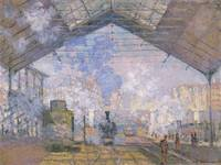 Claude Monet~The Gare St  Lazare