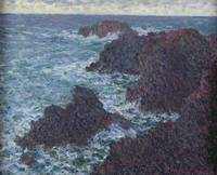 Claude Monet~The Rocks at Belle Ile, the Wild Coas