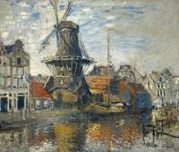 Claude Monet~The Windmill on the Onbekende Gracht,