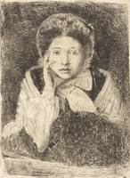 Edgar Degas~Marguerite De Gas, the Artist's Sister