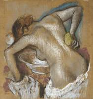 Edgar Degas~Woman Washing her Back with a Sponge