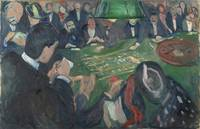 Edvard Munch~At the ROULETTE Table in Monte Carlo