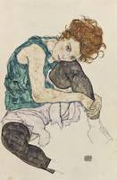 Egon Schiele~Seated Woman with Bent Knee