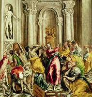 El Greco~Jesus Driving the Merchants from the Temp