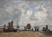 Eugène Boudin~Fishermen's Wives at the Seaside