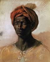 Eugène Delacroix~Portrait of a Turk in a Turban