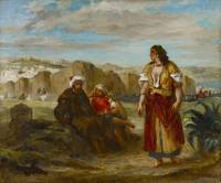 Eugène Delacroix~View of Tangier with Figures