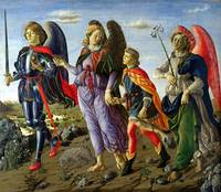 Francesco Botticini~The Three Archangels and Tobia
