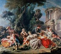 François Boucher~Bird Catchers