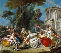 François Boucher~The Bird Catchers