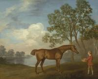 George Stubbs~Pumpkin with a Stable-lad