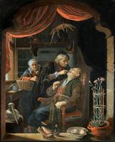 Gerrit Dou~A Dentist Examining The Tooth of an Old