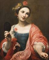 Giuseppe Maria Crespi~Portrait of a Woman Holding