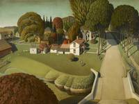 Grant Wood~The Birthplace of Herbert Hoover, West