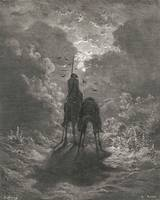 Gustave Doré~Don Quixote on horseback