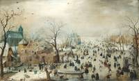 Hendrick Avercamp~Winter Landscape with Skaters
