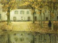 Henri Le Sidaner~Little Place on the Banks of the