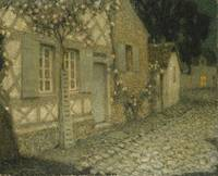 Henri Le Sidaner~The Gardener's House in the Moonl