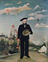 Henri Rousseau~Self Portrait, from L'ile Saint-Lou
