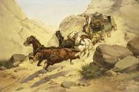 Herman Wendelborg Hansen~Attack on the Stagecoach