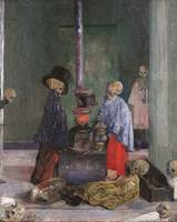 James Ensor~Skeletons Warming Themselves