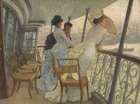 James Tissot~The Gallery of HMS Calcutta (Portsmou