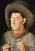 Jan van Eyck~Man with Pinks