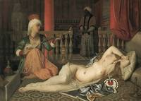Jean-Auguste-Dominique Ingres~Odalisque with a Sla