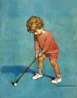 Jessie Willcox Smith~I can play golf!