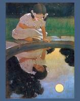 Jessie Willcox Smith~Looking at the moon's reflect