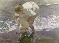 Joaquin Sorolla y Bastida~Bathing on the Beach