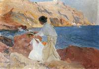 Joaquin Sorolla y Bastida~Clotilde and Elena On Th