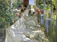 Joaquin Sorolla y Bastida~Mending the Sail