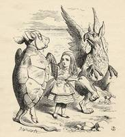 John Tenniel~Alice with the Gryphon and the Mock T