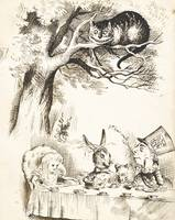 John Tenniel~Scene from The Mad Hatter's Tea Party