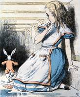 John Tenniel~The Pool of Tears, illustration from