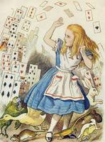 John Tenniel~The Shower of Cards, illustration fro