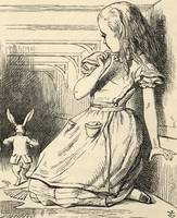John Tenniel~The White Rabbit is late, from 'Alice