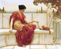 John William Godward~The Favourite