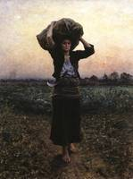 Jules Breton~The Shepherd''s Star