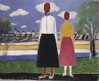 Kazimir Malevich~Two Figures in a Landscape