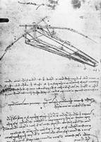 Leonardo da Vinci~Design for a flying machine, fol