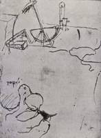 Leonardo da Vinci~Design for a digger head, fol