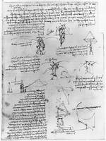 Leonardo da Vinci~Drawings of Parachute Experiment
